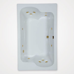 72 by 43 Whirlpool bath tub
